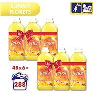 LENOR Sunny Florets 6× 1,42 l, (288 Praní) - Aviváž