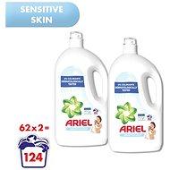 ARIEL Sensitive 2× 3,410 l (124 praní) - Prací gel