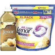 LENOR Gold Orchid kapsle 44 ks + aviváž 750 ml (25 praní ) - Sada drogerie