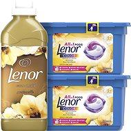 LENOR Gold Orchid kapsle 26 ks + aviváž 750 ml (25 praní) - Sada drogerie