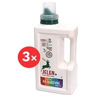 JELEN Prací gel na barevné prádlo 3× 1,35 l (90 praní) - Eko prací gel