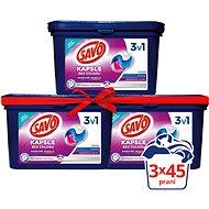 SAVO Barevné prádlo 3in1 3× 45 ks - Kapsle na praní