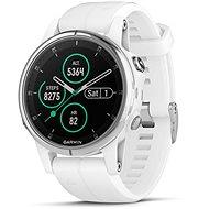 Garmin Fenix 5S Plus Sapphire White, White Band - Chytré hodinky