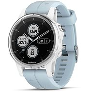 Garmin Fenix 5S Plus White, Seafoam Band - Chytré hodinky