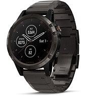 Garmin Fenix 5 Plus Carbon Gray DLC Titanium Optic DLC Titanium Band - Chytré hodinky