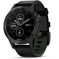 Garmin Fenix 5 Plus Sapphire Black Optic Black Leather Band - Chytré hodinky