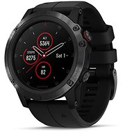 Garmin Fenix ​​5X Plus Sapphire Black Optic Black Band - Smartwatch
