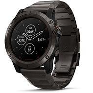 Garmin Fenix 5X Plus Sapphire Carbon Gray DLC Titanium DLC Titanium Band - Chytré hodinky