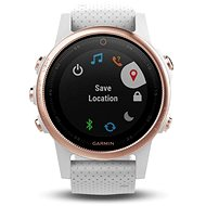Garmin Fenix 5S Sapphire Rose Gold Optic, White band - Chytré hodinky
