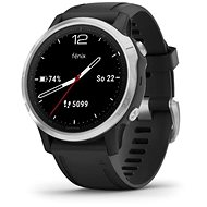 Garmin Fenix 6S Glass, Silver/Black Band
