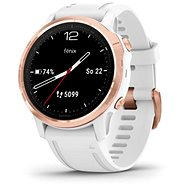 Garmin Fenix 6S Glass, RoseGold/White Band (MAP/Music) - Smartwatch