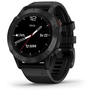 Garmin Fenix 6 Glass, Black/Black Band (MAP/Music) - Chytré hodinky