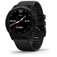 Garmin Fenix 6X Glass, Black/Black Band (MAP/Music) - Chytré hodinky