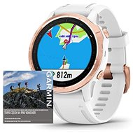 Garmin Fenix 6S Pro Glass, RoseGold/White Band (MAP/Music)