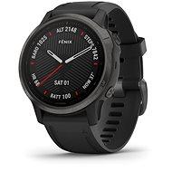 Garmin Fenix 6S Pro Glass Black/Black Band (MAP/Music) - Chytré hodinky