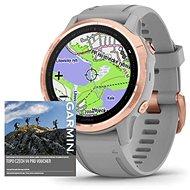 Garmin Fenix 6S Pro Sapphire, RoseGold/Gray Band (MAP/Music) - Chytré hodinky