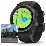 Garmin Fenix 6S Pro Sapphire Gray/Black Band (MAP/Music) - Chytré hodinky