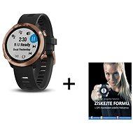 Garmin Forerunner 645 Optic Music Rose Gold + kniha Získejte formu s GPS monitorem srdečního tepu - Chytré hodinky