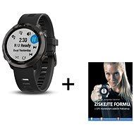 Garmin Forerunner 645 Optic Music Slate + kniha Získejte formu s GPS monitorem srdečního tepu - Chytré hodinky