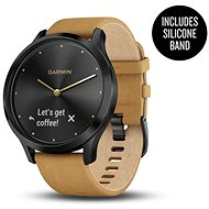 Garmin Vivio Optic Premium Onyx Black Tan Suede - Smartwatch