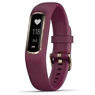 Garmin vivoSmart4 Merlot/Rose Gold (velikost S/M) - Fitness náramek