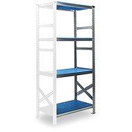 Metalsistem SUPER 123 1840 x 976 x 600 mm, přídavný modul, modrý plast - Regál