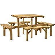 4stranný piknikový stůl 172 x 172 x 73 cm impregnovaná borovice 315406