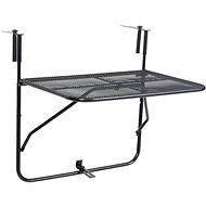 Balkónový stůl černý 60 x 40 cm ocel 325924