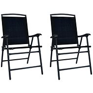 Skládací zahradní židle 2 ks textilen černé 47923