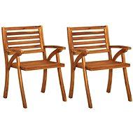 Zahradní židle 2 ks masivní akáciové dřevo 310629 - Zahradní židle