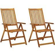 Zahradní polohovací židle 2 ks masivní akáciové dřevo 311846 - Zahradní židle