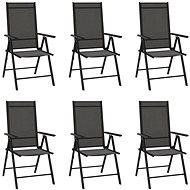 Skládací zahradní židle 6 ks textilen černé 312179