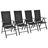 Skládací zahradní židle 4 ks textilen černé 312182 - Zahradní židle