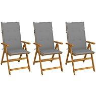 Skládací zahradní židle s poduškami 3 ks masivní akáciové dřevo 3064090 - Zahradní židle