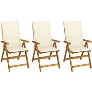 Skládací zahradní židle s poduškami 3 ks masivní akáciové dřevo 3064091 - Zahradní židle