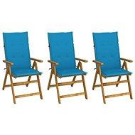 Skládací zahradní židle s poduškami 3 ks masivní akáciové dřevo 3064093 - Zahradní židle