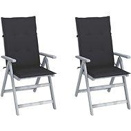 Zahradní polohovací židle s poduškami 2 ks masivní akácie 3064698 - Zahradní židle