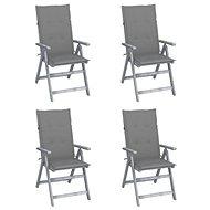 Zahradní polohovací židle s poduškami 4 ks masivní akácie 3065378 - Zahradní židle