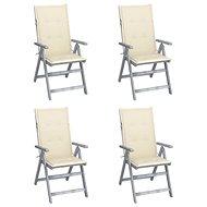 Zahradní polohovací židle s poduškami 4 ks masivní akácie 3065379 - Zahradní židle