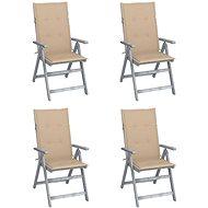 Zahradní polohovací židle s poduškami 4 ks masivní akácie 3065380 - Zahradní židle