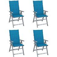 Zahradní polohovací židle s poduškami 4 ks masivní akácie 3065381 - Zahradní židle