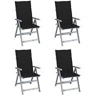 Zahradní polohovací židle s poduškami 4 ks masivní akácie 3065384 - Zahradní židle