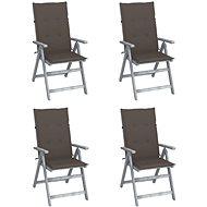Zahradní polohovací židle s poduškami 4 ks masivní akácie 3065385 - Zahradní židle