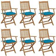 Skládací zahradní židle s poduškami 6 ks masivní akáciové dřevo 3065480 - Zahradní židle