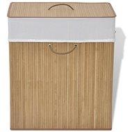 Bambusový koš na prádlo obdélníkový přírodní odstín 245581 - Koš na prádlo