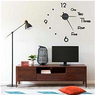 3D Nástěnné hodiny s moderním designem černé 100 cm XXL 325153