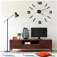 3D Nástěnné hodiny moderní design černé 100 cm XXL 325156
