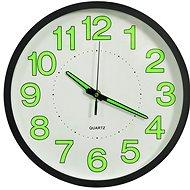 Svítící nástěnné hodiny černé 30 cm 325166