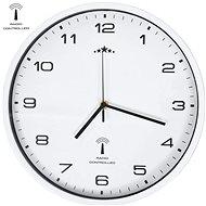 Rádiem řízené nástěnné hodiny se strojkem Quartz 31 cm bílé