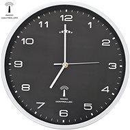 Rádiem řízené nástěnné hodiny se strojkem Quartz 31 cm černé
